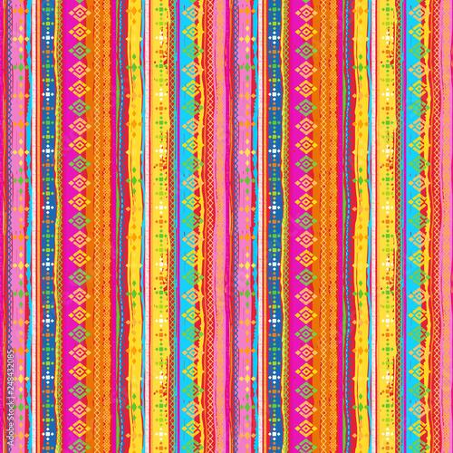 Foto auf AluDibond Boho-Stil Ethnic boho seamless pattern
