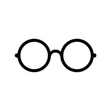 Glasses Icon, Sign Or Logo, Flat Design