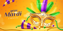 Mardi Gras Parade Banner With ...