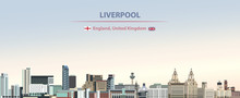 Vector Illustration Of Liverpo...