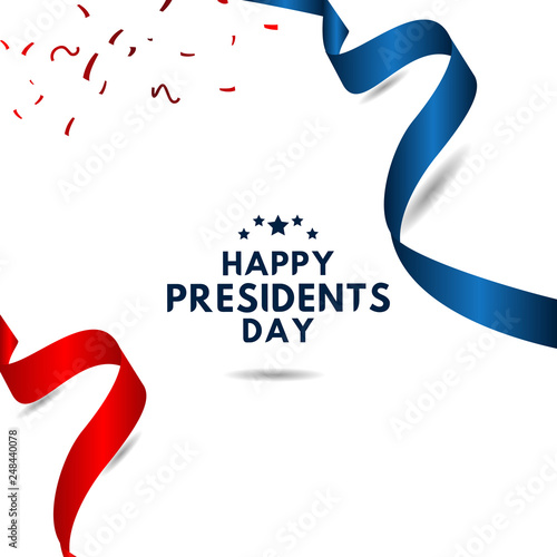 Canvas-taulu Happy Presidents Day Vector Template Design Illustration