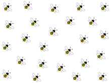 Wonderful Design Of Hard-working Bees On A White Background