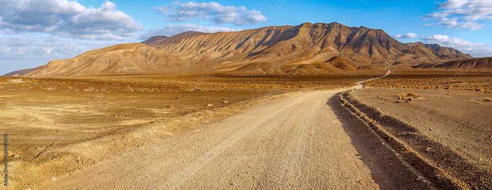 Fototapety, obrazy: Fuerteventura volcanic landscape at golden hour