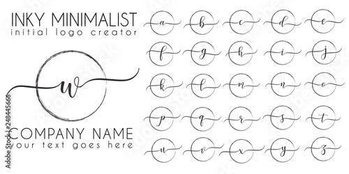 Minimalistic inky initial logo letter template Wallpaper Mural