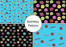 Set Of Seamless Texture. Vecto...