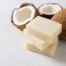 Coconut Handmade Soap, Spa And Body Care Concept