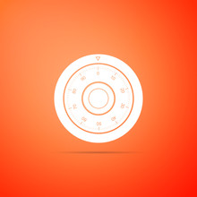 Safe Combination Lock Wheel Icon Isolated On Orange Background. Protection Concept. Password Sign. Flat Design. Vector Illustration