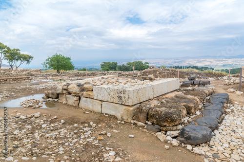 Canaanite palace in Tel Hazor National Park Wallpaper Mural