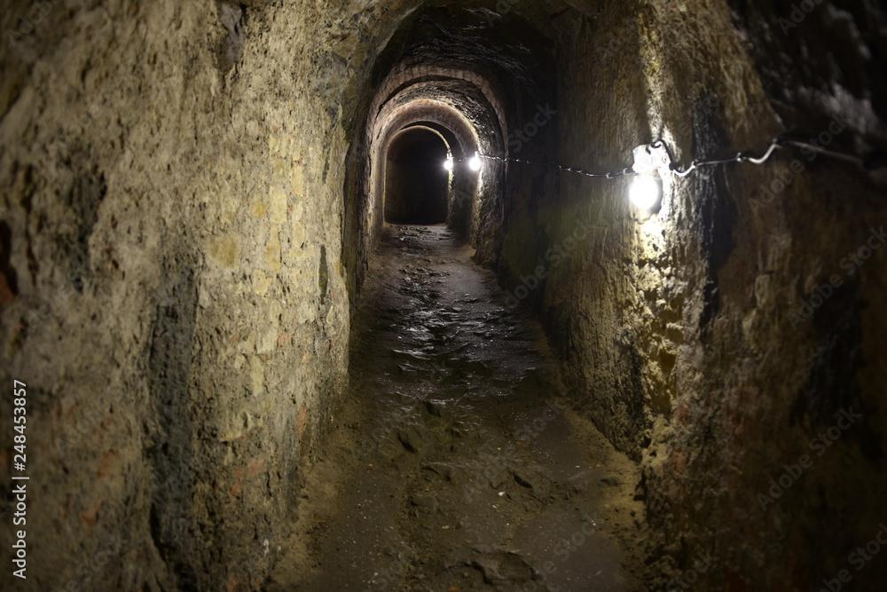 Fototapety, obrazy: Podziemia Twierdzy Klodzko, podziemia, chodniki minerskie