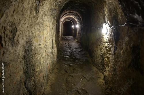 Fototapeta Podziemia Twierdzy Klodzko, podziemia, chodniki minerskie  obraz