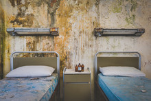 Decayed Hospital Bed