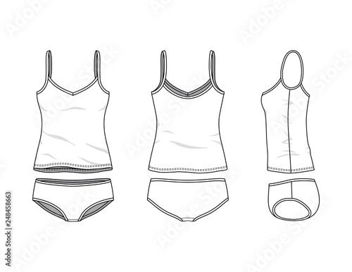 Obraz na plátne Blank clothing templates.