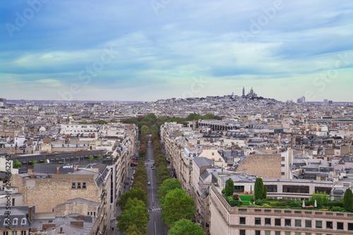 Poster de jardin Paris Paris- Vue aérienne
