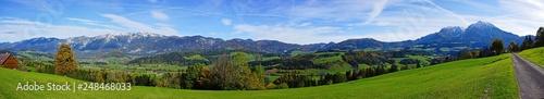 Tuinposter Alpen Panorama of Windischgarsten, Upper Austria, Sengsengebirge, Kalkalpen