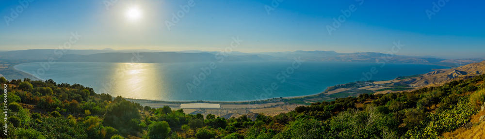 Fototapety, obrazy: Panoramic view of the Sea of Galilee