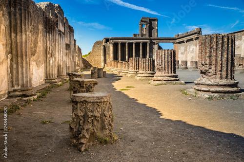Ruins of Pompeii - Naples Province,Campania, Italy Fototapeta