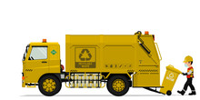 Isolated Recyclable Garbage Tr...
