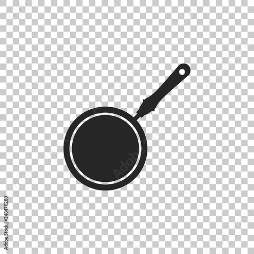 Fotografía  Frying pan icon isolated on transparent background