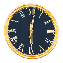 Round Wall Clock With Gilded D...