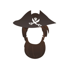 Vector Pirate Beard Photo Boot...