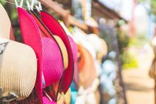 Sun Hat Shop For Tourists