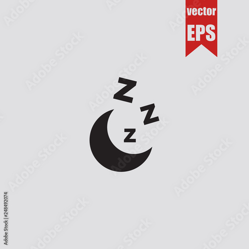 Cuadros en Lienzo zzz sleep icon.Vector illustration.