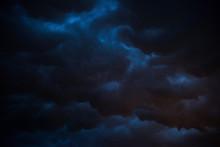 Black Storm Cloud At Night, Da...