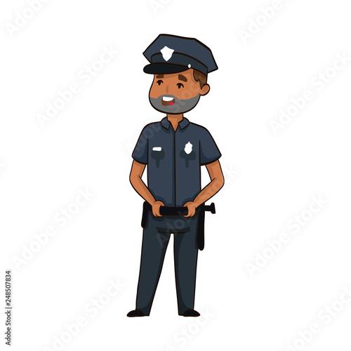 Cuadros en Lienzo cartoon funny policeman
