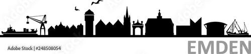 Emden City Skyline Fototapet