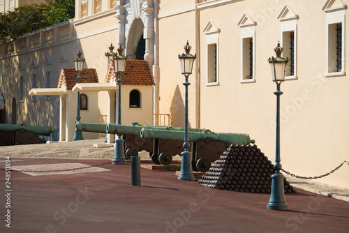 medieval cannons in monaco