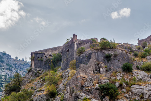 Photographie  The old fortress, Kotor, Montenegro
