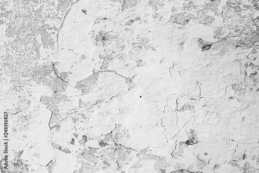 Fototapety, obrazy: Texture, wall, concrete, it can be used as a background . Wall fragment with scratches and cracks