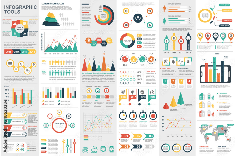 Fototapety, obrazy: Infographic elements data visualization vector design template. Can be used for steps, options, business processes, workflow, diagram, flowchart concept, timeline, marketing icons, info graphics.