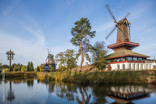 Fotografia, Obraz  Beautiful reflection of Mills in Gifhorn, Germany