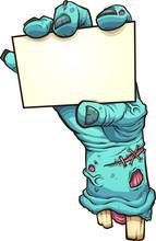 Cartoon Severed Zombie Hand Ho...