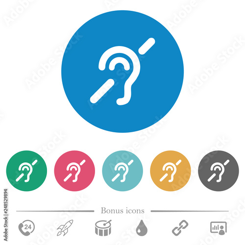Hearing impaired flat round icons Canvas-taulu