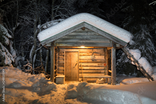 Finnische Sauna Fototapet