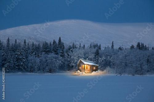 Photographie Hütte in Finnland