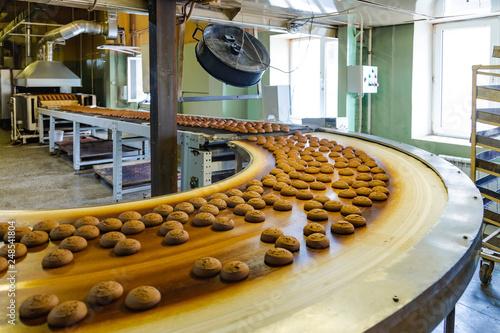 Fotografía  Production line of confectionery factory