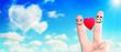 canvas print picture - Zwei verliebte Finger