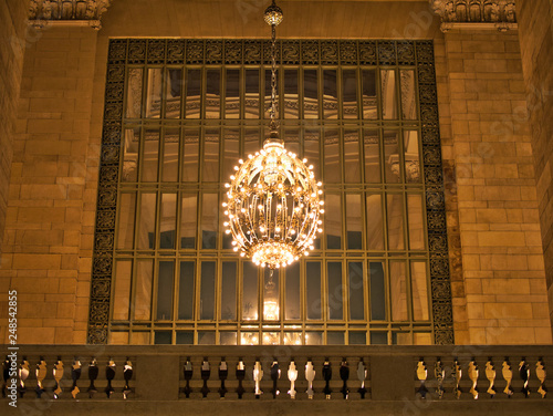 Photo  Chandeliers in Grand Central Station Manhattan New York City USA