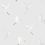 Seamless pattern, background with tropical birds - 248548260