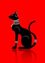 Black Egyptian Cat. Bastet, An...