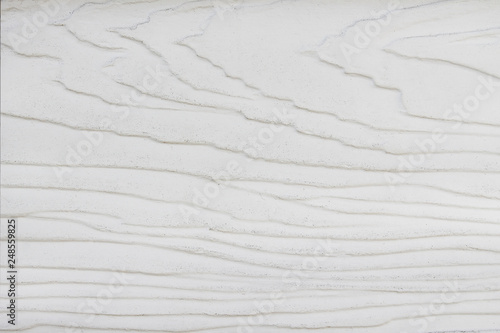 Fotografía  Wood wall texture background with white paint , wave patterns abstract in horizo