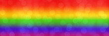 Blurred Rainbow Background Wit...