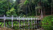 White Painted Wooden Bridge Co...