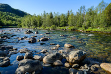 River In The Mountains, In Swe...