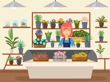 Flower Shop Interior Green Nat...