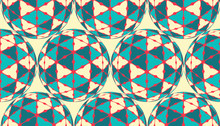 Seamless Tile With Decorated Balls Pattern In Ivory Blue