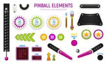 Pinball Horizontal Icon Set